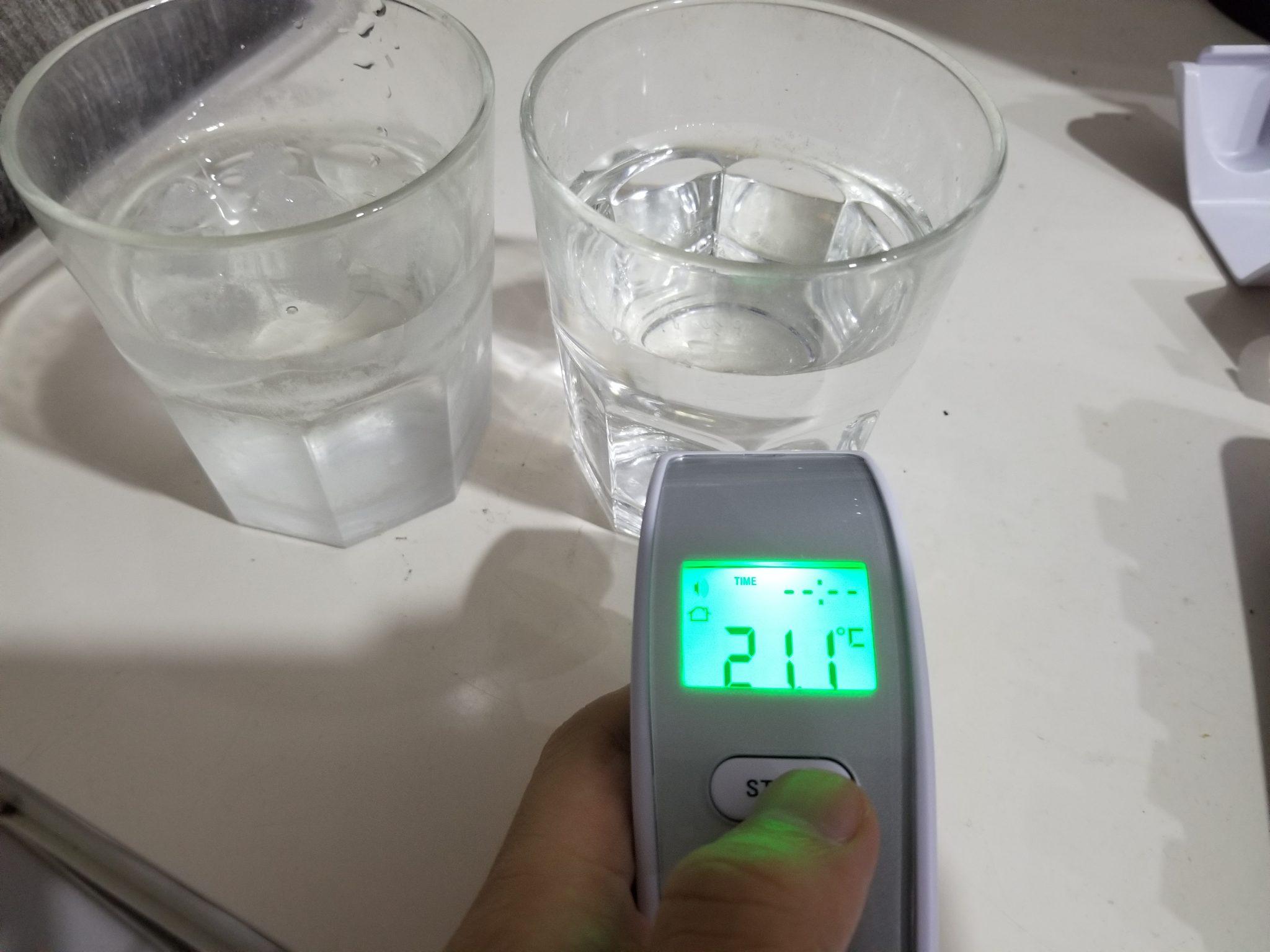 nhiệt độ cốc nước thường
